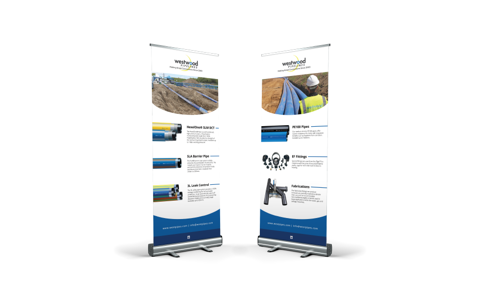 Exhibition stand design work for local company Westwood Pipelines